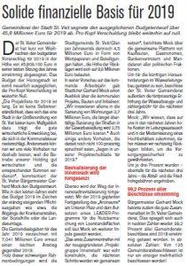 St. Veiter Stadtjournal, 01/2019