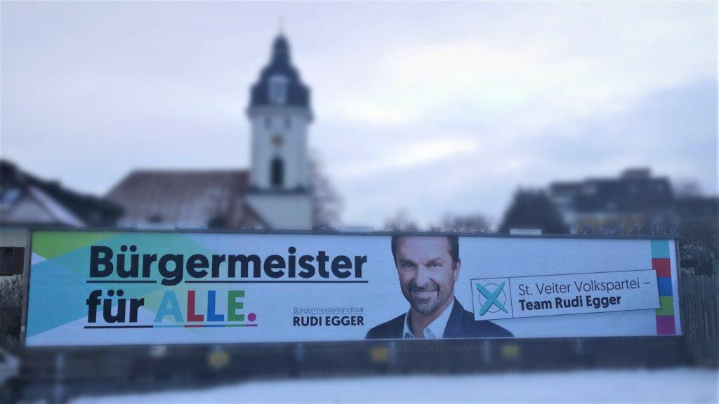 Mit dem Neujahrsbrief Rudi Egger und der erste Plakatwelle startet die St. Veiter Volkspartei in den Wahlkampf 2021.