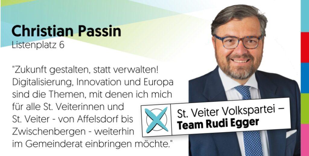 Gemeinderatskandidat Christian Passin